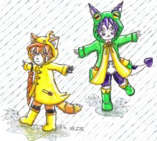 Mr Raindrop. Puddles of fun! by KyoukaKami