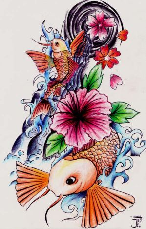 japanese style tattoos. the style of tattooing was