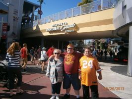 me and my family at Universal Studios by enterprisedavid
