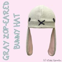 Gray Lop-Eared Bunny Hat by MikilofSouthern
