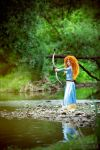 Merida, by the river by shua-cosplay