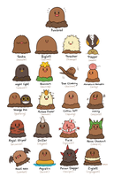 Diglett Variations by HappyCrumble