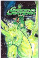 Green Lantern sketch cover  by Sigint