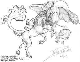 Gryphon VS Unicorn Portfolio X by BlackUniGryphon