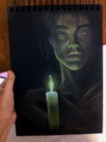 Candle light and the Blackbook by GadjetVamp