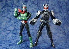 S.H. Figuarts | Kamen Rider The Second + OOO by Glamador