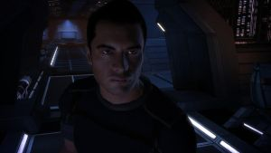 Kaidan at the Helm - Mass Effect by loraine95