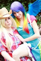 Apple Jack and Rainbow Dash by RougeLeaderRed