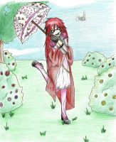 Grell in a frilly dress by Zamious