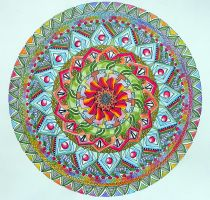 Like a Flower Mandala coloured by Lou-in-Canada