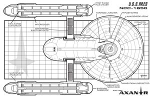 U.S.S. Ares Schematics Bottom by stourangeau