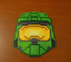 Halo Master Chief bead coaster by monochrome-GS