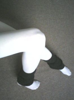 White with legwarmers by MagpieGreen