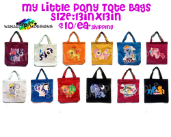 MLP ToteBags by wanabiEPICdesigns