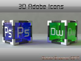 3D Adobe Icons by Digital-Dreamer-3047