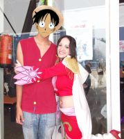 Boa and Luffy by Hekrania