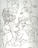 Random Pokemon sketches by xAshleyMx