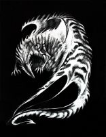 Rise from Ashes Scratchboard by RubisFirenos