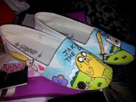 Finn Jake Shoes by CannibalCupcakes