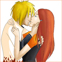 Minato and Kushina by angiful