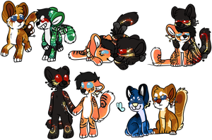 :COM: chibis for Theuntouchedremedy by ImaGonnaSneeze