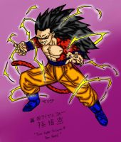 True SSJ4 Goku by Demon0fDarkness
