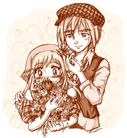 Harvest Moon-ToTT - Cam and Lillian - Flowerful by amako-chan