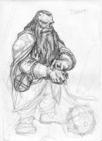 dwarf rough sketch by MLAYCO