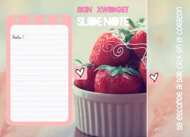Skin XWidget Slide Note by DeniseeBieber