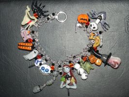 The Nightmare Before Christmas Charms Bracelet wit by Secretvixen