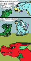 Beware the Geen-eyed Monster by TheDragonInTheCenter