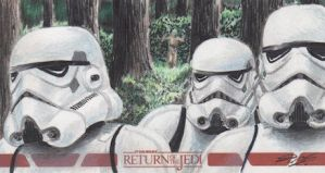 Star Wars ROTJ - Stormtroopers Sketch Art Card RC by DenaeFrazierStudios