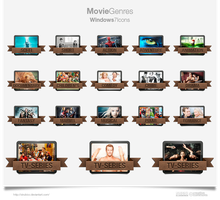 Movie Genres Icons 2013 Update! by sirubico