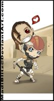 Raiden and Vamp .Chibi Wars.C by MadiBlitz