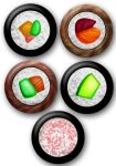 Sushi buttons by e-tahn