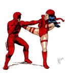 Daredevil vs Elektra by pjperez