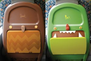 Cuteness on the back of a seat by MumblingIdiot