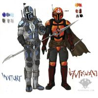 Mandalorians batch 01 by hydraness