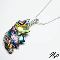 Retro Fused Glass Pendant 1 by Create-A-Pendant