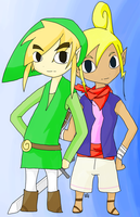 Link + Tetra by WhiteOblivion