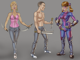 3 Game Characters by dadich