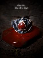 Freya`s invocation silver ring by Gwillieth