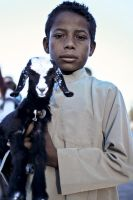 Boy with a goat by ArtBIT