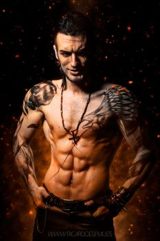 Gladiolus - Final Fantasy XV - HELLFIRE  #2 by LeonChiroCosplayArt