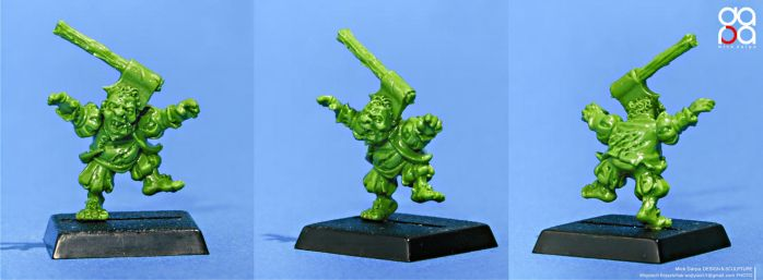 The Axehead - halfling zombie by MickDarpa