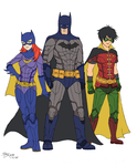 Batman, Robin and Batgirl Fanart by XenonVincentLegend