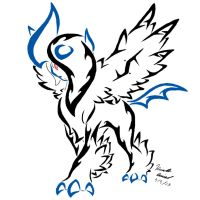 Mega Absol Tribal tattoo by ArchangelVampire