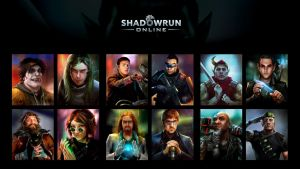 Shadowrun Online - Portraits by Mikeypetrov