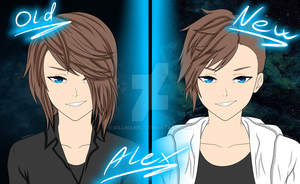Alex/Old and new hairstyle by KillManPl
