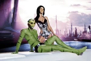 Miranda and Thane on shore leave by RenderEffect-Dan